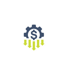Cost reduction icon on white vector