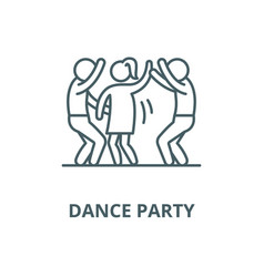 Dance party line icon linear concept vector