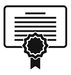 Diploma personal traits icon simple style vector