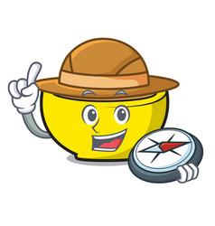 Explorer soup union mascot cartoon vector