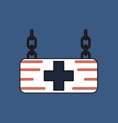 flat icon design collection medical sign vector image