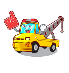 Foam finger tow truck for vehicle branding vector