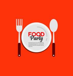 Food party logo template design vector