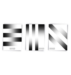 gradient black and white lines background template vector image