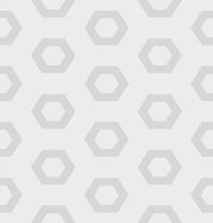 Gray hexagon seamless pattern vector