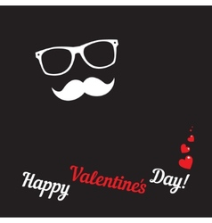 Greeting card for hipsters Happy Valentines Day vector image vector image