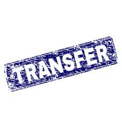 Grunge transfer framed rounded rectangle stamp vector
