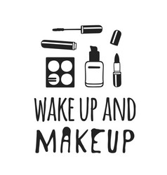 hand drawn beauty products and vector image