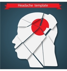 headache migraine or vector image
