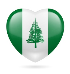 Heart icon of Norfolk Island vector image