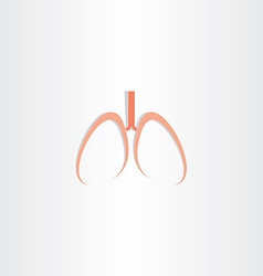 human lungs icon design vector image