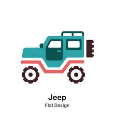 Jeep flat icon vector