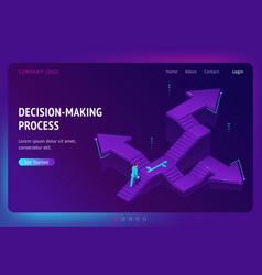 landing page decision making process vector image
