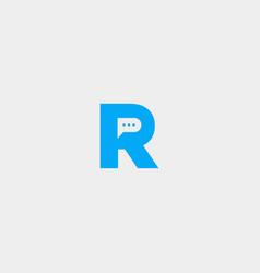 Letter r chat template logo design vector