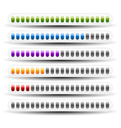 loading or measuring bars interface elements vector image