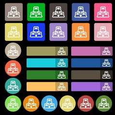 Local area network icon sign Set from twenty seven vector