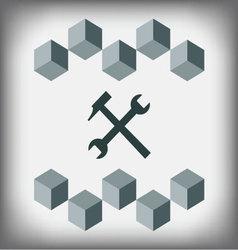logo design repair service vector image