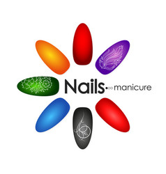 manicure and pedicure nail design vector image