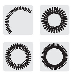 monochrome icons set with springs vector image