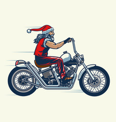 Motorcycle rider ride chopper bike and vector