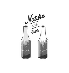Nature and bottle vector
