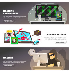 Network fraud banners set vector