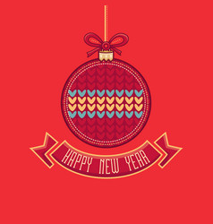 New year card holiday ornament vector