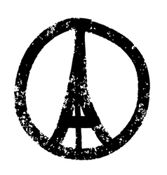 Peace for paris vector