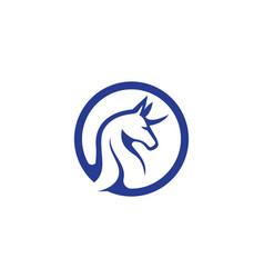 Pegasus logo template vector