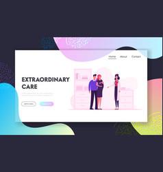 Pregnancy childbearing website landing page vector