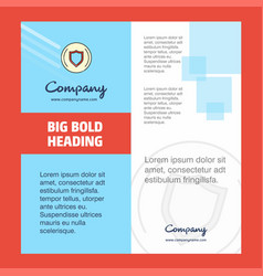 Protected sheild company brochure title page vector