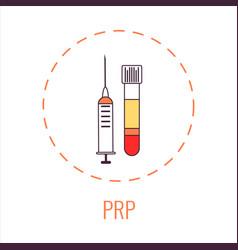 prp medical inforgaphic design in line style vector image