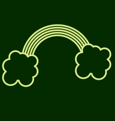 rainbow and clouds stpatrick s day vector image