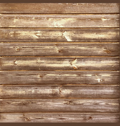 Rustic old timber wood wall vector