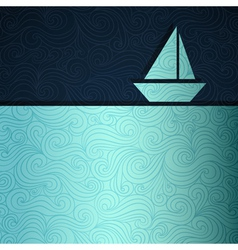 Sailing boat background vector image