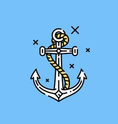 sailor anchor icon vector image