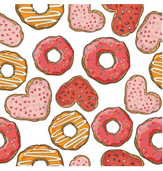 seamless pattern with donuts and cookies vector image