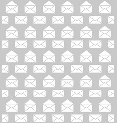 Seamless pattern with envelopes postal delivery vector
