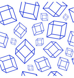 seamless pattern with geometric elements - blue vector image