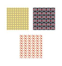 set ethnic pattern vector image