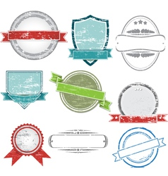 set of grunge vintage labels vector image
