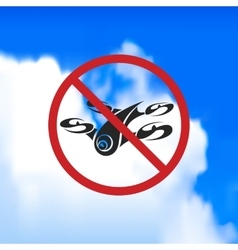 Sign forbidding flight drone vector