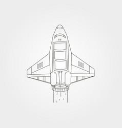 Spaceship line art symbol design spacecraft vector