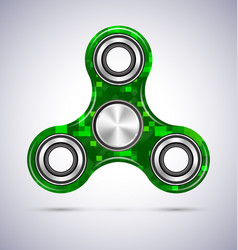 Spinner green mosaic design with metal vector