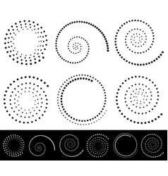 Spiral shapes set of volute snail decorative vector