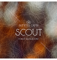 Summer scout camp background Warm colors vector image