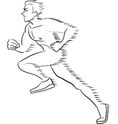 Symbolic running man vector image