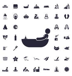 Taking a bath icon vector