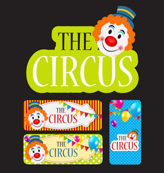 The Circus Banner Set vector