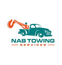 Towing car logo design vector